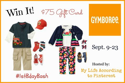 Gymboree Gift Card - my life according to pinterest one derful birthday bash gymboree gift card giveaway