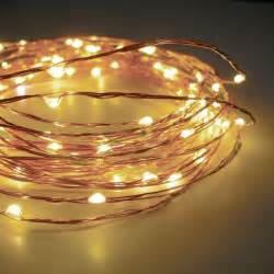 120 warm white led string lights flexible wire electric 20