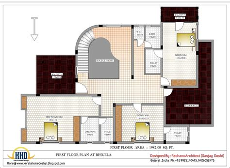floor plan house design luxury indian home design with house plan 4200 sq ft kerala home design and floor