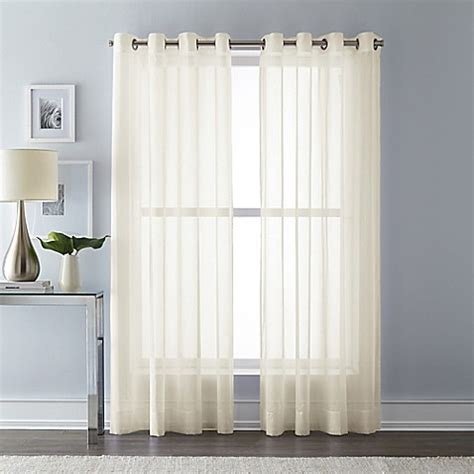 63 inch curtains bed bath beyond buy wamsutta 63 inch grommet top sheer window curtain