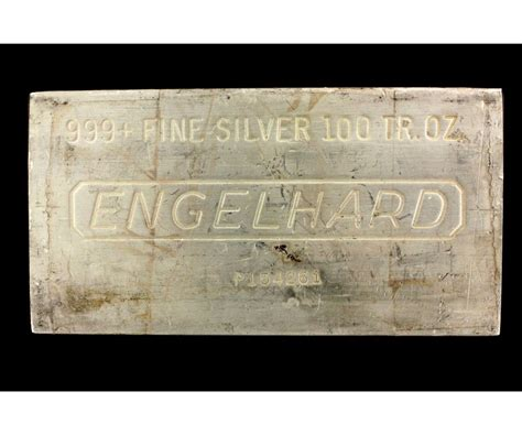 1 Troy Oz Engelhard Silver Bars - silver bar 1 100 troy oz engelhard 999 silver bar