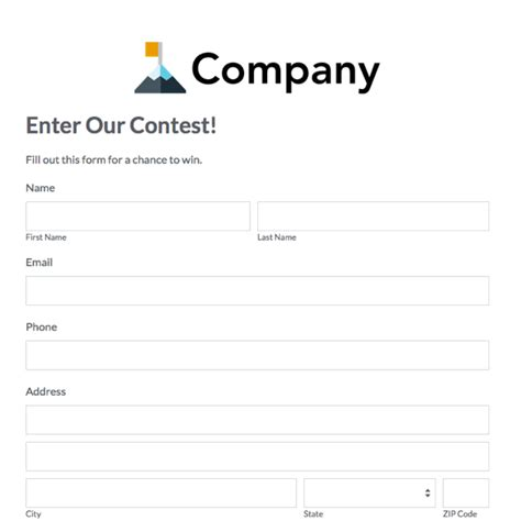 contest entry form template pictures to pin on pinterest