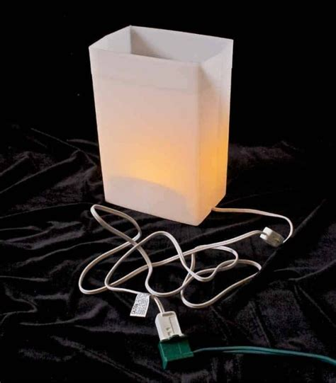 electric luminaries for christmas indoor luminary light kit