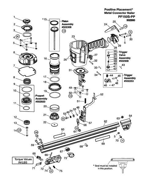 paslode framing nailer parts diagram buy paslode 502300 pf150s pp replacement tool parts