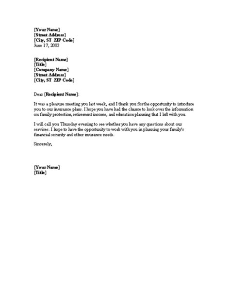 business letter sle follow up follow up to service sales call word 2003 or