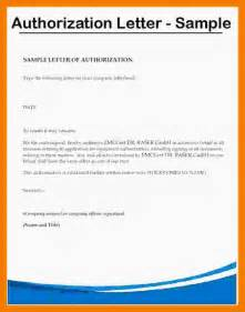 Authorization Letter For Moral Character 3 Authorization Letter Sle To Act On Behalf Mailroom Clerk