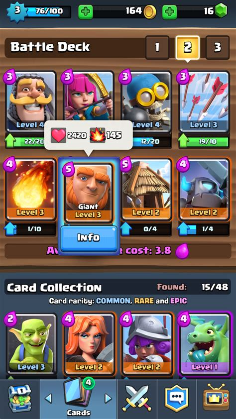 Clash Royale the best deck for a beginner iPad