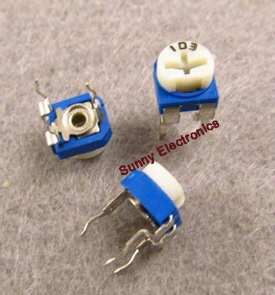 Resistor Variable Single Turn Potensiometer 5 Kohm Diskon aliexpress buy free shipping 20pcs 10k ohm trimmer trim pot single turn top adjust