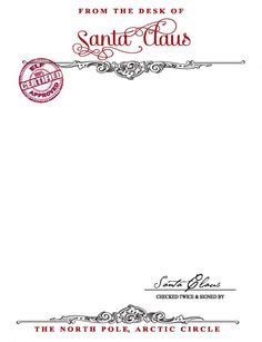 Official Pole Letterhead Letter From Santa Template Word Photographer Davidson Nc A Letter From Santa Santa S
