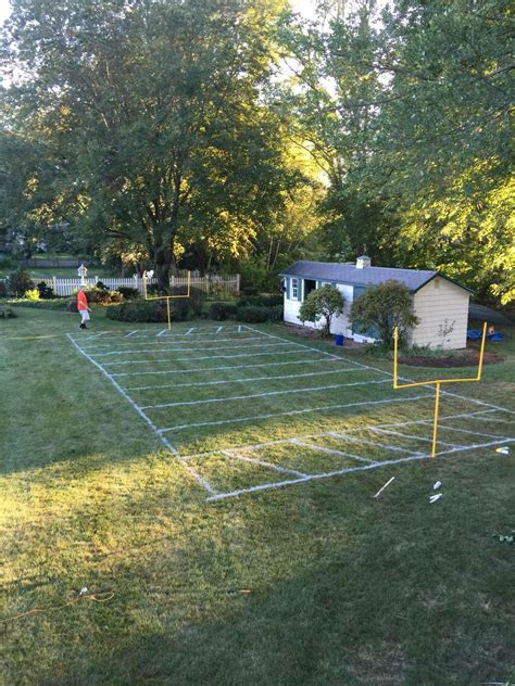 Backyard Football Field Les First Bday In