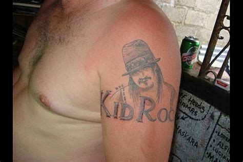 kid rock tattoos worst rock tattoos kruddy kid rock