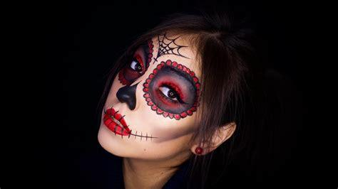 tutorial makeup catrina la catrina makeup tutorial halloween sugar skull youtube