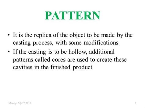 types of pattern allowances ppt pattern materials allowance authorstream