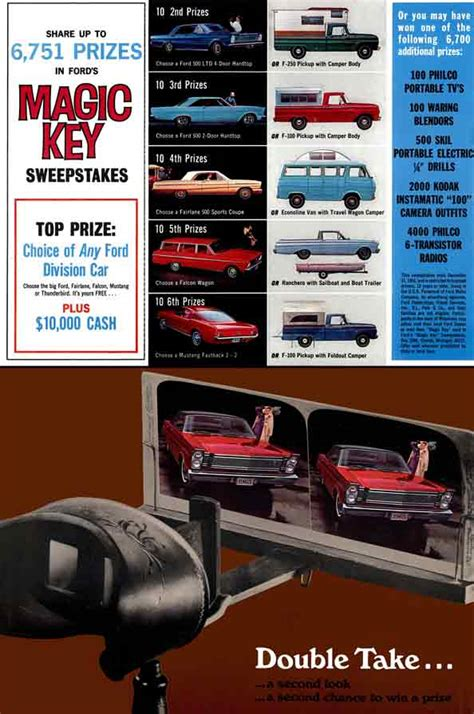 Sweepstakes Promotion - regress press ford 1965 magic key sweepstakes promotion