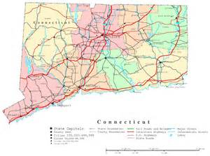 printable map connecticut printable map
