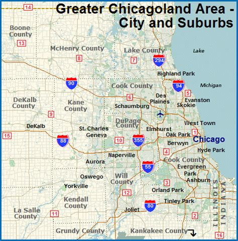 map of greater chicago area map of chicagoland area choice image diagram writing