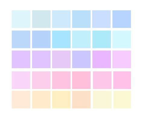pastel colors list pastel colors palette search colour palette