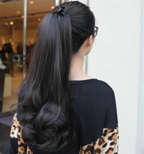 ponytail bottom curly clip in high black 1b bottom curly hairstyles human