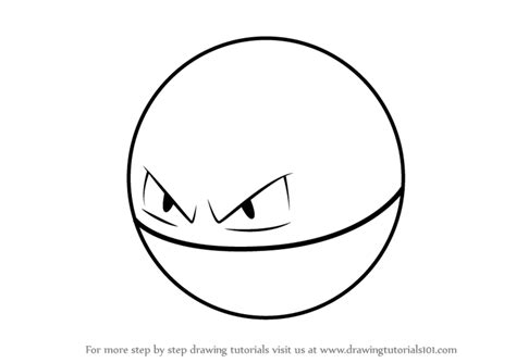 pokemon coloring pages voltorb learn how to draw voltorb from pokemon go pokemon go