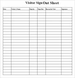 sign out sheet template 9 free samples examples format