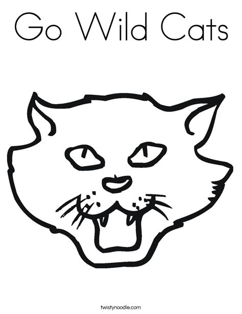 coloring pages wild cats go wild cats coloring page twisty noodle