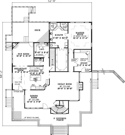 Low Country Floor Plans by Low Country Split Bedroom Plan 59422nd Architectural