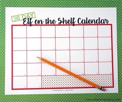 printable elf on the shelf calendar 2017 elf on the shelf ideas with free printable calendar