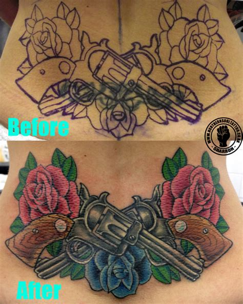 tribal back tattoo cover up coverups northern soul liverpool