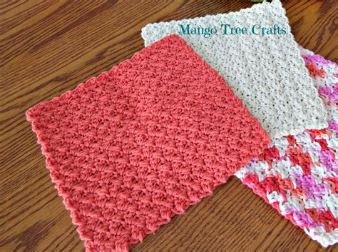 mango tree crafts crochet dishcloth pattern