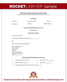 patent specification template provisional patent application form free template with
