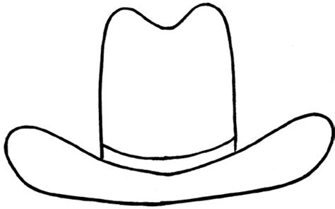 paper cowboy hat template home on the range tslac