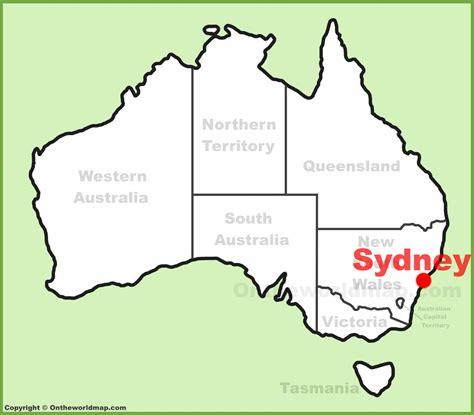 sidney australia map sydney location on the australia map