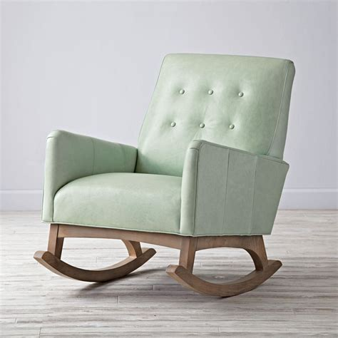 couch rocking chair everly retro rocking chair the land of nod