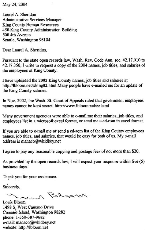 Washington State Court Records By Name 2004 King County Employees List