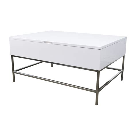elm white table 34 elm storage table elm white lacquer