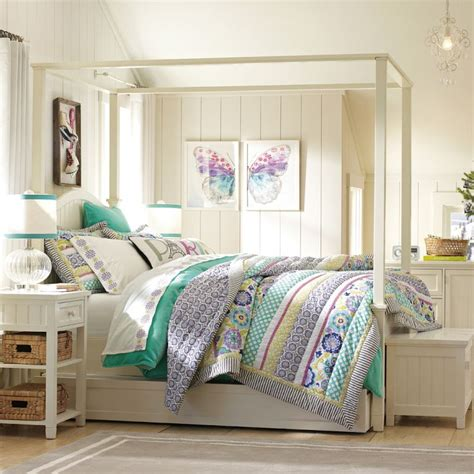 pottery barn teenage girl bedrooms bedroom ideas canopy bed with contemporary design