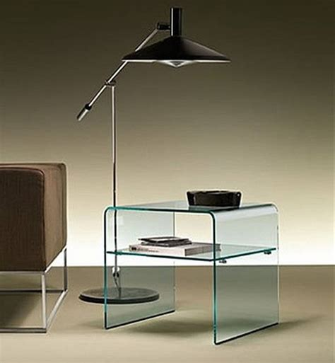 glass bedroom side tables fiam rialto night end tables glass bedroom ultra modern