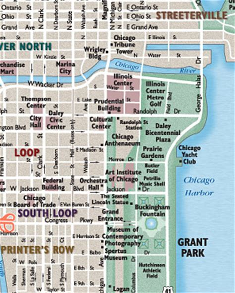 chicago map kiosk city maps and maps for web print and display media