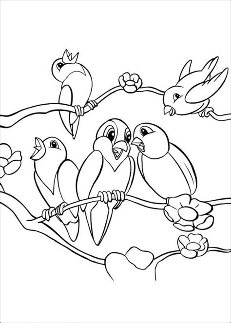 coloring pages of birds singing school of bird singing together coloring page color luna