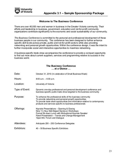Sponsorship Notification Letter Event Toolkit 2011