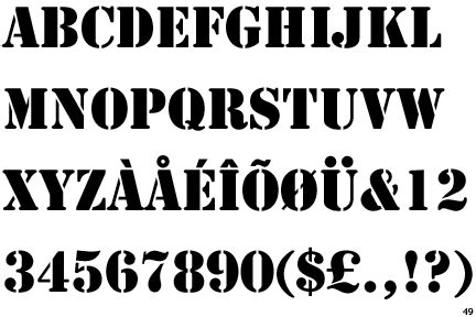 typical stencil font quora