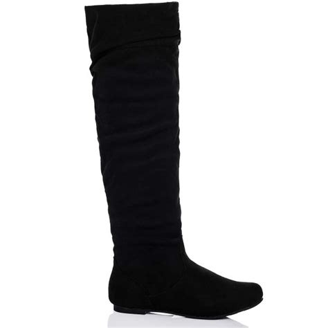 buy undercover flat slouch knee boots black suede