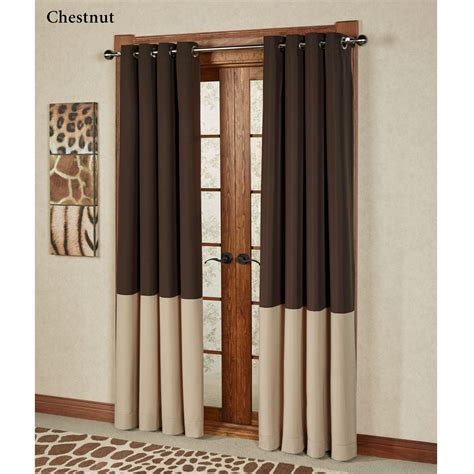 grommet drape kendallin color block grommet curtain panels