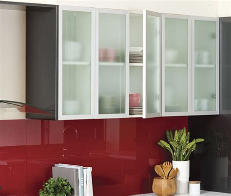 Frosted Glass Door   kaboodle kitchen