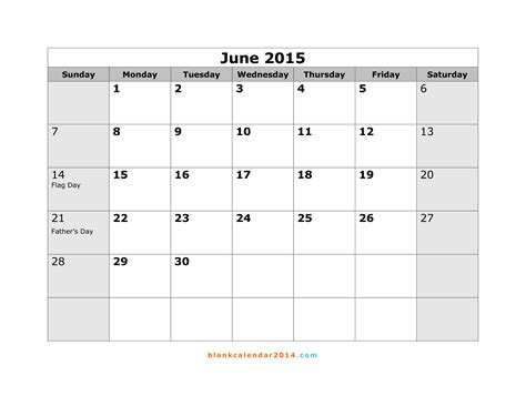 2015 calendar template with holidays printable june 2015 calendar with holidays gallery