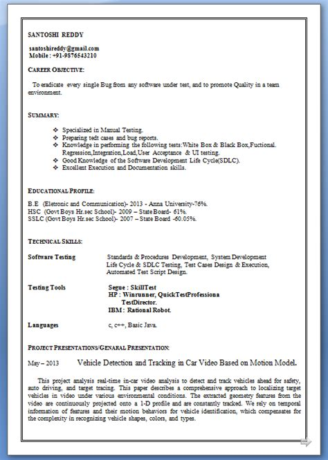 sle resume for high school students