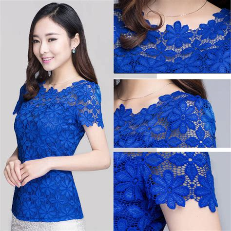 Home Design Quarter Contact Details by New Korean Fashion Lace Lady Shirts Short Sleeve Womens