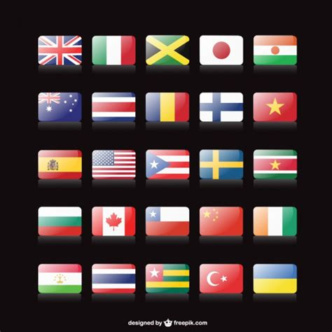 flags of the world download flags of the world buttons vector free download