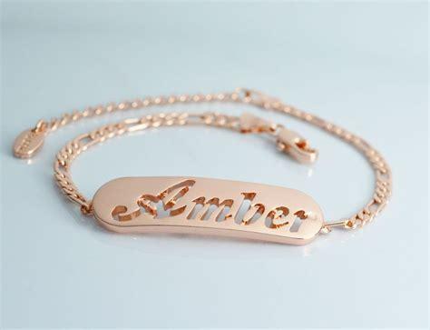 Name Bracelet   Amber   18K Rose Gold Plated