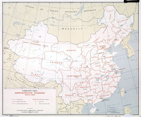 asia map china large scale communist china administrative divisions map